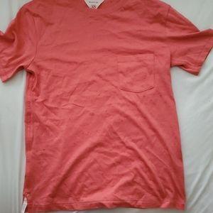 Rag and Bone Red Textured Crew Neck Summer Shirt